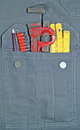 Tools in pocket jeans full of Royalty Free Stock Images