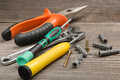 Tools for repair and construction Royalty Free Stock Photo