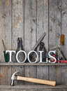 Tools Rustic Wood Background
