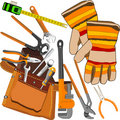 Tools set. Royalty Free Stock Images