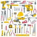 Tools set of construction vector Royalty Free Stock Photography