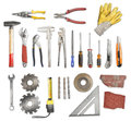 Tools set of different on white background Stock Images