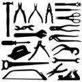 Tools set - vector Royalty Free Stock Photos