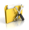 Tools and settings icon d render Royalty Free Stock Photo