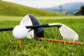 Tools of sport of golf Royalty Free Stock Photo