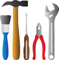 Tools a vector drawing represents design Royalty Free Stock Image