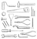 Tools vector set Stock Photo