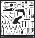 Tools vector silhouettes collection handtool types Stock Photography