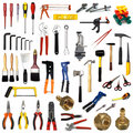 Tools on white background Royalty Free Stock Photo