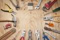 Tools Wood Background Royalty Free Stock Photo