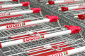 Toom shopping carts of a diy superstore Stock Photo