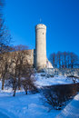 Toompea tower on winter day Tallinn, Estonia. Stock Image