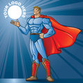Toon hero generic superhero figure standing proud layered easy to edit see portfolio for simular images place your logo Royalty Free Stock Image