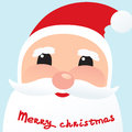 Toon Santa face christmas icon Stock Image