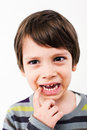 Tooth ache boy having a sad face Royalty Free Stock Image