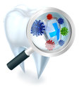 Tooth Bacteria Magnifying Glass Concept