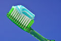 Tooth Brush and tooth paste Royalty Free Stock Images