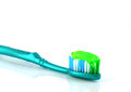 Tooth-brush with tooth paste Stock Image