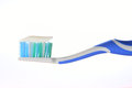 Tooth brush tooth paste white background Royalty Free Stock Image