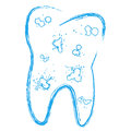 Tooth with caries the symbol of the in a grunge style Royalty Free Stock Images