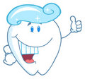 Tooth cartoon character with toothpaste Royalty Free Stock Photo