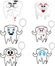 Tooth collection on white background illustration Stock Photos