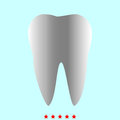 Tooth it is color icon .