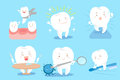 Tooth with different emotion