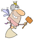 Tooth Fairy Flying With A Mallet And Bag Stock Photography