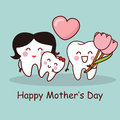 Tooth with Happy Mother Day Royalty Free Stock Photo