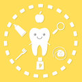 Tooth and hygiene things. Royalty Free Stock Photo