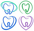 Tooth icons Royalty Free Stock Photo