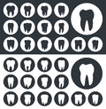 Tooth icons, teeth silhouettes