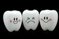 Tooth smile and cry emotion Royalty Free Stock Photo