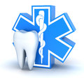 Tooth and star of life Royalty Free Stock Photo