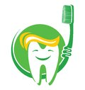 Tooth and toothbrush vector illustration of the Stock Images