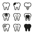 Tooth vector icons set this is file of eps format Stock Photography