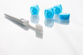 Toothbrush and dental floss Royalty Free Stock Photo