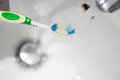 Toothbrush in water Royalty Free Stock Photo