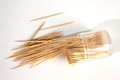 Toothpick bundle of on a white background Royalty Free Stock Photo