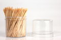 Toothpick bundle of on a white background Royalty Free Stock Image