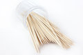 Toothpick small quantity tree in plastic packing Royalty Free Stock Images