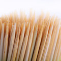 Toothpicks bamboo on white background Stock Photo