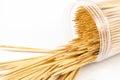 Toothpicks image of on white background Stock Photography
