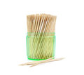 Toothpicks isolated on white Royalty Free Stock Photo
