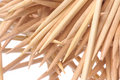 Toothpicks Macro Isolated Royalty Free Stock Photo