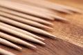 Toothpicks macro shot of wooden Royalty Free Stock Photo