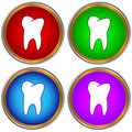 Tooths set tooth icons on a white background Stock Images