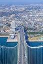 Top of akashi kaikyo bridge in japan Royalty Free Stock Photos