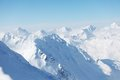 Top of alps in sky Royalty Free Stock Images